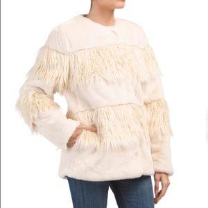 Bcbgeneration shaggy faux fur jacket coat NWT